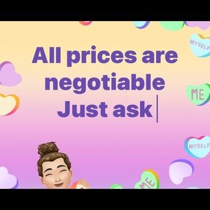 All prices are negotiable